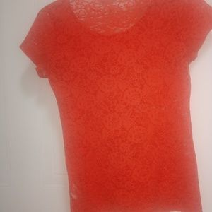 Forever 21 Orange lace Top